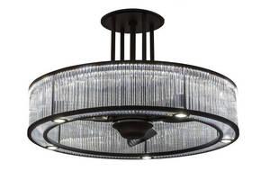 Decorative LED Light/Fan illuminates and cools.