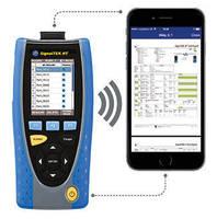 Copper/Fiber Network Transmission Tester has wireless hotspot.