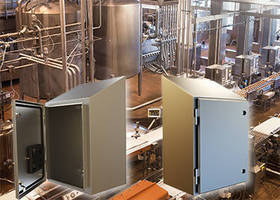 Wash Down Duty Wall Mount Enclosures are made of stainless steel.