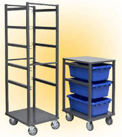 Steel Racks accommodate 3 or 6 tubs.