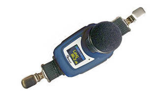 Noise Dosimeter features wireless, shoulder-mounted design.