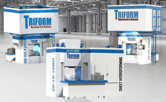 Sheet Hydroforming Presses offer integrated tool change.