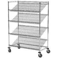 Wire Shelving Starter Kits optimize visibility of contents.