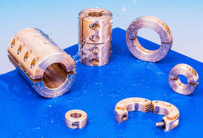 Brass Shaft Collars and Couplings resist corrosion and galling.