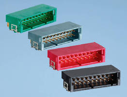 Wire-to-Board Connectors come in dual-row version.