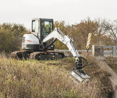 Compact Excavators offer flail mower attachment.
