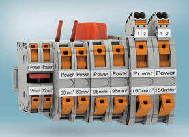 Easy Power Wiring with Spring-Cage High-Current Terminals