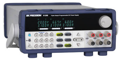 Linear DC Power Supply offers 3 programmable outputs.
