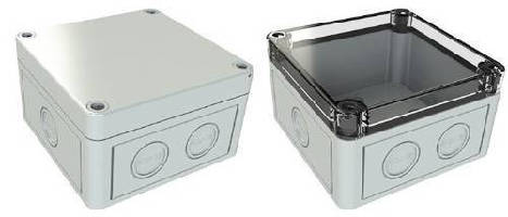 Plastic NEMA 4X Enclosures feature metric knockouts.