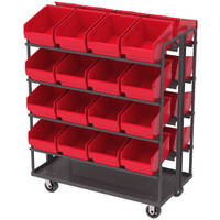 Two-Sided Carts increase picking/stocking efficacy.