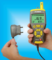 Handheld Thermal Hygrometer offers multi-function operation.