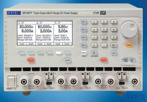 Laboratory Power Supply (375 W) offers 3 outputs and 8 ranges.
