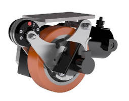 Industrial Caster features motorized design.