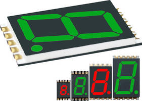 SMT Single-Digit 7-Segment LED Display is 0.083 in. thin.