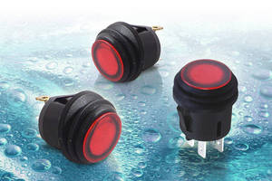 Rugged Waterproof Push Button and Rocker Switches from Cherry Provide Price-competitive IP65 Protection