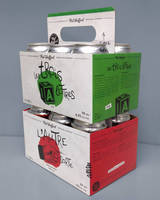 Innovative Beer Carton Features Retractable Handle to Facilitate Carrying, yet also Enable Stacking