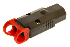 Plug-In C13 IEC Connector has locking, rewireable design.