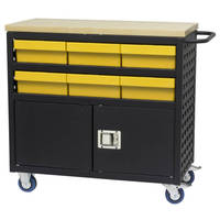 Mobile Louvered Carts are available with locking doors.