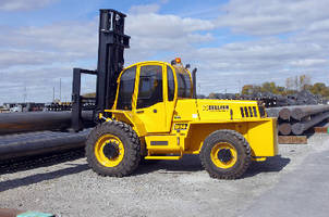 Rough Terrain Forklift features 15,000 lb capacity.