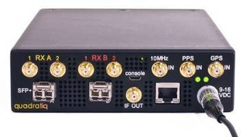 Software Defined Radio provides 4 RF receiver paths.