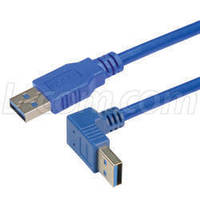 USB 3.0 Cable Assemblies feature right angle design.