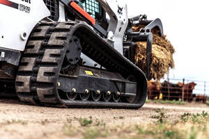Compact Track Loader Undercarriages minimize vibration.