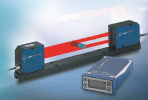 Optical LED Micrometer offers extended working distance.
