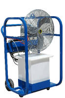 Portable Air Chiller features 32 gallon water tank.