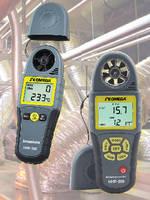 Mini Handheld Anemometers monitor outdoor environment.
