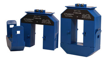 AC Current Transducer monitors loads up to 800 A.