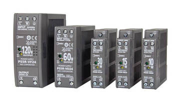 DIN-Rail Mount Power Supplies offer up to 89% efficiency.