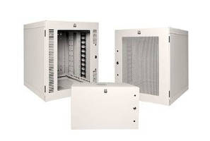 Wall-Mount Cabinet secures and protect network/telecom equipment.
