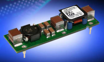 Compact 10 A EMC Filter is suited for use with DC/DC converters.