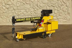 Transportable Mini Crane integrates multiple safety features.