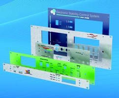 Custom Front Panels are available with digital printing.