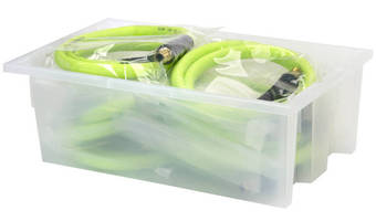 Nesting and Stackable Totes come in clear and color options.