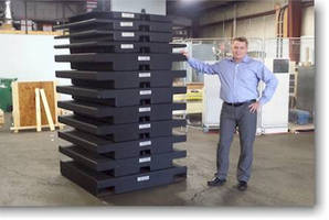 "Wyoming, USA: Hoist & Crane Company Takes Delivery of ""Black Beauty"" Stackable Test Weight System"