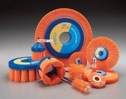 Nylon Abrasive Brushes offer extended life, accelerated cutting.