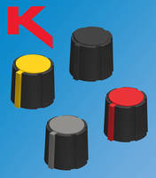 Colored Pointer Knobs are designed for visibility and grip.