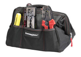 Heavy-Duty, Pocketed Bag carries tools to job site.