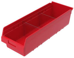 Plastic Bins optimize content visibility with clear dividers.