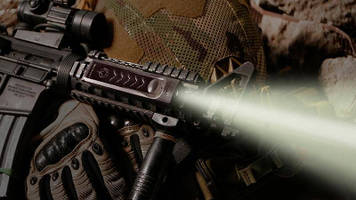 LED Weapon Light features snap-on design.