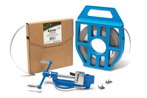 Stainless Steel Bands, Buckles offer all-weather binding/clamping.