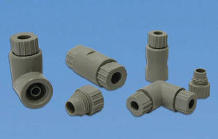 Compression Fittings provide complete seal without tools.