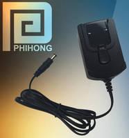High-Efficiency 10 W Wall-Plug Adapter has interchangeable plugs.