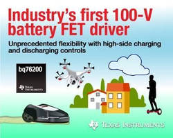 High-Side FET Driver suits lithium-ion battery applications.