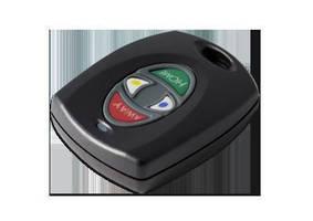 Key Fobs provide on premises alarm-system control.