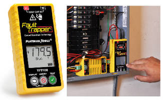 Smart Tester identifies opens, shorts, and arc faults.