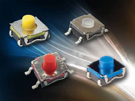 Sealed SMT Tact Switches deliver up to 5 million cycles.