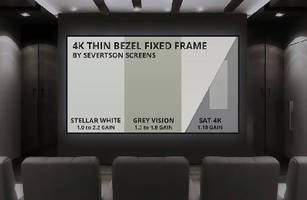 Fixed Frame Projection Screens feature thin/zero bezel design.